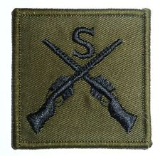 OFFICIAL ARMY SNIPER PATCH olive sew on forces Military sharp shooter gun badge
