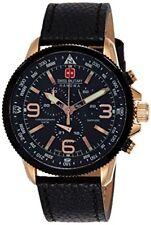 Relojes de pulsera Chrono de piel acero inoxidable