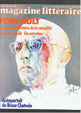 MAGAZINE LITTERAIRE N°207 1984  MICHEL FOUCAULT