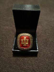 1976 Indiana Hoosiers Championships Display Coach Bob Knight Fan Ring In Box 10