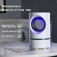 Electric Photocatalytic Mosquito Kill Lamp LED Light Non-Toxic UV Insect Trap QE