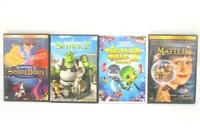 Lot of 4 Children's DVDs Matilda, A Turtles Tale 2, Shrek 2, Sleeping Beauty