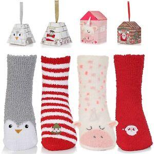 Ladies Slipper Socks Women's Bed Socks Fluffy Bed Socks Animal Bed Socks UK 4-7