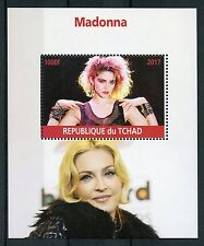 Chad 2017 MNH Madonna 1v M/S Pop Stars Music Celebrities Stamps