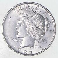 Choice AU/UNC 1922-D Peace Silver Dollar - 90% Silver