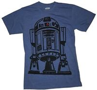 161d3d3a Star Wars Mens T-Shirt Size L R2D2 Graphic Authentic Grey Short ...