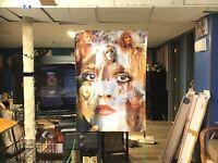 NEW HUGE! 44x29 STEVIE NICKS vinyl banner POSTER fleetwood Mac Art music artist
