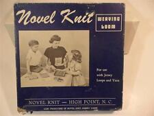 Vintage Novel Knit Weaving Loom in Original Box with Instructions & Hook