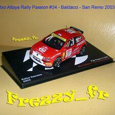 1/43 Ixo * Fiat Punto S1600 * Baldacci * Rallye San Remo 2003