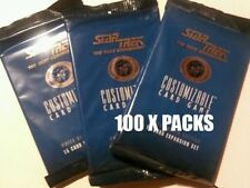 STAR TREK CCG 1E : PREMIERE WB UNLIMITED BOOSTER PACK LOT X 100