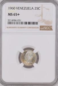 1960 Venezuela 25c NGC MS 65+ Witter Coin