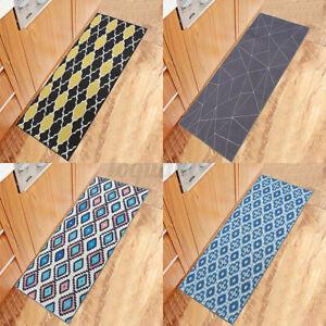 Non-Slip Home Kitchen Door Mat Machine Washable Runner Floor Rug Carpet 4Styles