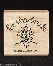 Stampin Up for the bride Stamp Single Bouquet of Flowers Wedding Theme Tag Size
