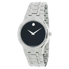 Movado Metio Black Dial Stainless Steel Men's Watch Item No. 0606203