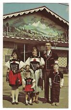 SUGARCREEK Ohio SWISS FAMILY CHALET Art Railroad Tunnel Gottard Postcard 1979