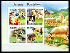 [96770] Sao Tome & Principe 2008 Domestic Animals Dog Cat Cow Imperf. Sheet MNH