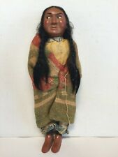 Skookum Indian Squaw Standing Native American Doll Vintage 11 Inch Antique