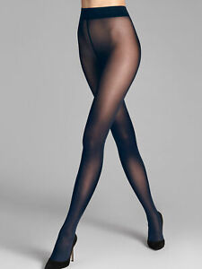 Wolford NWT Navy Blue Pure 50 Tights Size L