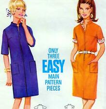 "EASY Vintage 60s Mod DRESS Sewing Pattern Bust 36"" Sz 12 RETRO Revival SHIFT"
