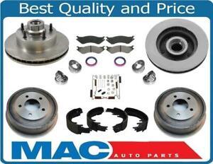 Fits 98-02 Dodge Ram 1500 Rotors & Pads Wheel Bearings Seals Drums Shoes Springs
