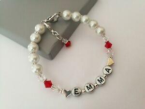 Luxury Personalised Bracelet Made with Swarovski Gift Boxed