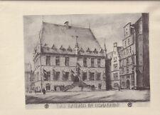 Osnabrück - Rathaus - Siebdruck von Walter Hobein