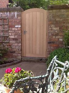 """Handcrafted Solid European Oak Garden Gate And Posts Bespoke Size 42"""" X 72"""" Max"""