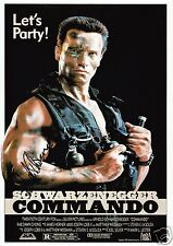 ARNOLD SCHWARZENEGGER - COMMANDO AUTOGRAPH SIGNED PP PHOTO POSTER