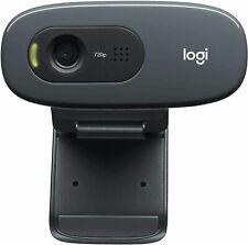 Logitech C270 HD Web Cam 720p 30 FPS- Black - FAST SHIPPING - Video Calling