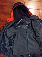 Gerry Kids Boys 3-In-1 Winter Snow Ski  Hooded Jacket Black Sz M (8)
