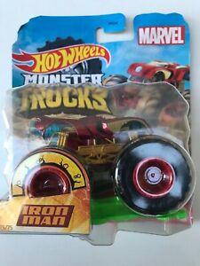 Hot Wheels Marvel Monster Trucks Iron Man, New & Sealed