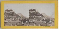Vue de Lourdes Photo Provost Toulouse Stereo Vintage Albumine c1868