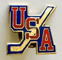 USA Olympic Ice Hockey Team Pin Badge Vintage Authentic (H10)