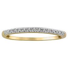 Diamond Band Ring 0.06ct. Real Diamonds 10K Yellow Gold size 8