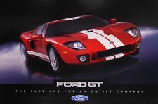"""FORD GT """"24 X 36"""" 2005 Dealer Poster Print Double Sided GT40 Carroll Shelby 2006"""
