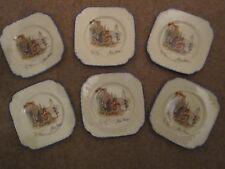 """Burslem Coronet Ware """"Nell Gwynn"""" Pattern : Set of 6 Side Plates"""