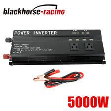 5000W Peak Car Power Inverter DC 12V To AC 110V 4X USB Ports RV Converter