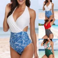 Women High Waisted Swimwear Push-up Bikini Swimsuit Monokini Beach Bathing Suit