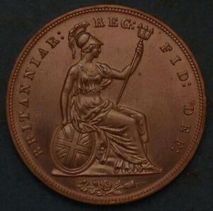Great Britain Penny 1857 Victoria Queen KM# 739 1588
