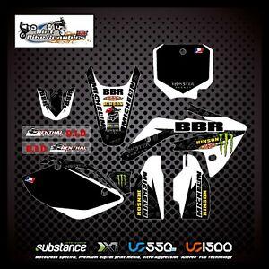 Honda CRF150 07-12 BBR Kit Black Decal Sticker MX (316)