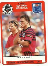 1991 NRL SCANLENS STIMOROL NORTH SYDNEY BEARS BILLY MOORE #107 CARD