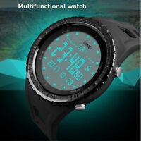 SKMEI LCD Cronometro Orologio Da Polso Digitale Quarzo Sport Uomo Impermeabile