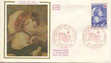 FIRST DAY COVER / 1° JOUR FRANCE / LA CROIX ROUGE 1971 TOURNUS / GREUZE