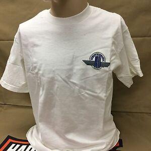 "Harley-Davidson White  Scott Jacobs ""reflections on canvas"" art T-shirt M"