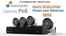 KIT 4 caméras NIVIAN IP 5MP POE + câbles