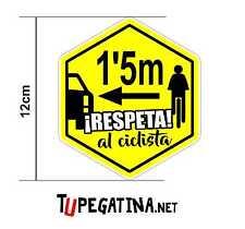 2x Pegatinas RESPETA AL CICLISTA <1,5m