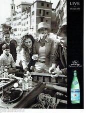 PUBLICITE ADVERTISING 106  2012  San Pellegrino eau minérale Elliot Erwitt Canne