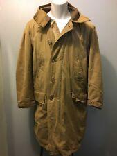 Vtg US Military Green Hooded Parka Mens L-XL Army Navy Coat Jacket Fleece Lined