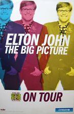 """Elton John """"The Big Picture-On Tour"""" U.S. Promo Poster - Triple Image Of E.J."""