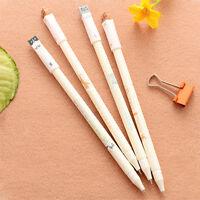 6Pcs Korean Kawaii Black Gel Ink Pens Roller Needle Pen Cat 0.38mm Waterc